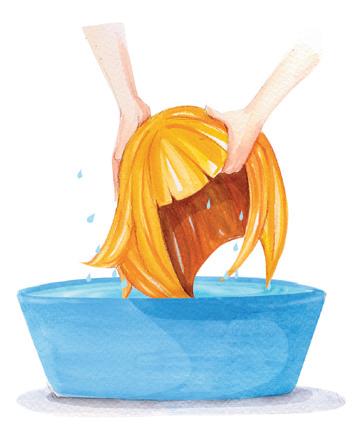 como lavar peluca