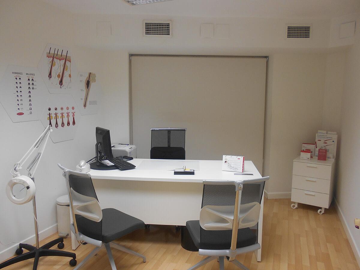 Despacho de la clínica capilar Svenson en Albacete